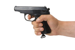 Pistol. Fire-arms. The isolated object Royalty Free Stock Image