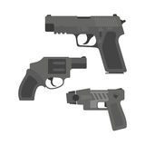 pistol. flat design Stock Photography