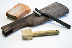 Pistol grip restoration Stock Image