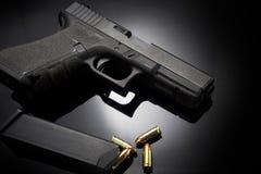Pistol gun on black background Royalty Free Stock Photo