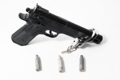 Pistol Gun and Bullets Royalty Free Stock Photo