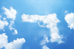 Pistol or gun clouds shaped Stock Photo