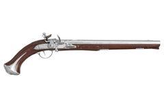 Pistol gun dueling, side view Stock Image