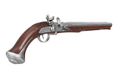 Pistol gun flintlock Stock Photos