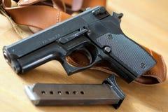 Pistol gun with magazine Stock Photo