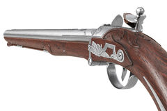 Pistol gun retro flintlock, close view Stock Image