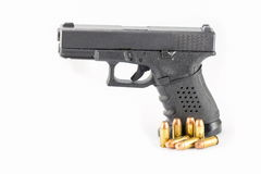 Pistol hand gun isolated on white background Royalty Free Stock Image