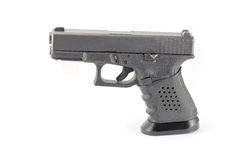 Pistol hand gun isolated on white Stack Image Royalty Free Stock Photo