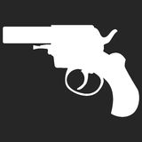 Pistol handgun security and military weapon Stock Images