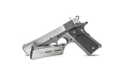 Pistol handgun weapon. On white background Stock Image