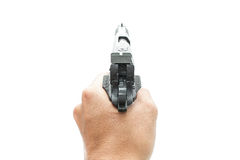 Pistol handgun weapon. On white background Stock Photo