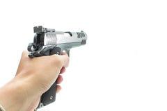 Pistol handgun weapon. On white background Stock Photography