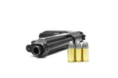 Pistol handgun weapon. On white background Royalty Free Stock Photography