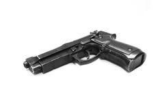Pistol handgun weapon. On white background Royalty Free Stock Photo