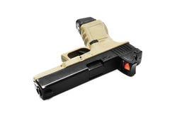 Pistol handgun weapon. On white background Royalty Free Stock Image