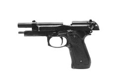 Pistol handgun weapon. On white background Royalty Free Stock Images