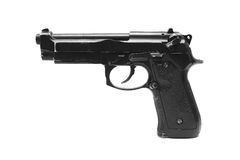 Pistol handgun weapon. On white background Stock Images