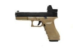 Pistol handgun weapon. On white background Royalty Free Stock Photos