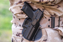 Pistol with holster Stock Photos