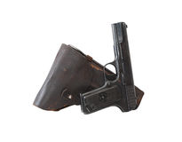 Pistol And Holster Stock Images