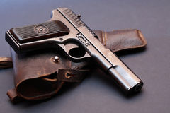 Pistol And Holster Stock Photo