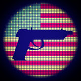 Pistol Icon Stock Photography