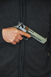 Pistol In Hand Royalty Free Stock Photo