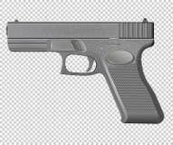 Pistol isolated on background vector Stock Photos