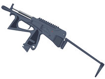 Pistol - a machine gun Stock Photo