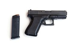 Pistol and Magazine Stock Image
