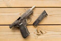Pistol and magazine Stock Image