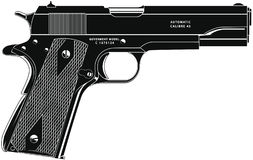 Pistol 11 Royalty Free Stock Images