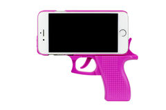 Pistol Phone Royalty Free Stock Photos