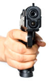 Pistol pointed on you Royalty Free Stock Photo