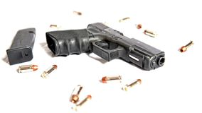 Pistol. A pistol is ready for self defense Stock Photo