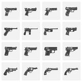 Pistol related icons set on background for graphic and web design. Simple illustration. Internet concept symbol for. Website button or mobile app vector illustration