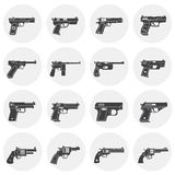 Pistol related icons set on background for graphic and web design. Simple illustration. Internet concept symbol for. Website button or mobile app stock illustration