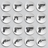 Pistol related icons set on background for graphic and web design. Simple illustration. Internet concept symbol for. Website button or mobile app royalty free illustration