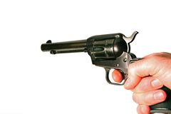 Pistol revolver Stock Photography
