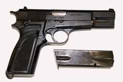 Pistol Side View Royalty Free Stock Photography