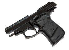 Pistol on slide stop royalty free stock photography