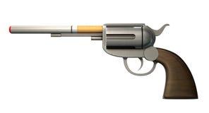 Pistol som röker begrepp Fotografering för Bildbyråer
