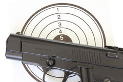 Pistol at the target Royalty Free Stock Photography
