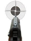 Pistol a target Stock Photo