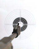 Pistol and  target Stock Photo