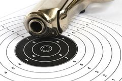 Pistol and target Stock Images