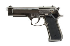 Pistol on white Royalty Free Stock Image