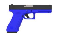 pistol on white background. 3D render. 9mm  pistol on white background. 3D render Stock Photography