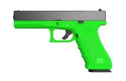 pistol on white background. 3D render. 9mm  pistol on white background. 3D render Royalty Free Stock Photography