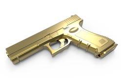 pistol on white background. 3D render Stock Image